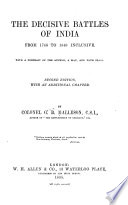 The Decisive Battles of India Book