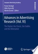 Advances in Advertising Research  Vol  VI  Book PDF