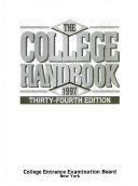 The College Handbook  1997 Book