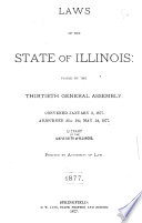 Laws Of The State Of Illinois Enacted By The General Assembly At The Extra Session