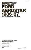 Ford Aerostar  1986 87