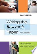 Writing The Research Paper A Handbook Spiral Bound Version