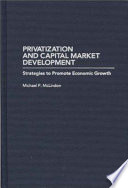 Privatization and Capital Market Development Book