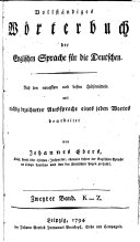 Vollständiges Wörterbuch der Englischen Sprache für die Deutschen