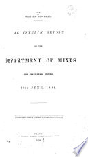 Report of the Department of Mines for the Year