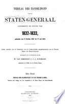 Verslag Der Handelingen Der Staten Generaal
