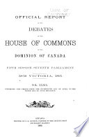Official Report of Debates, House of Commons