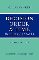 Pdf Decision Order and Time in Human Affairs