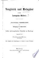 Vergleich und Metapher in den Lustspielen Molière's