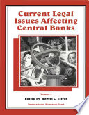 Current Legal Issues Affecting Central Banks,