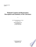Wetland Creation and Restoration Book