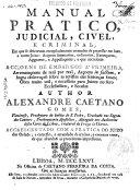 Manual pratico, judicial, civel e criminal ...