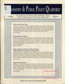 Philosophy & Public Policy Quarterly