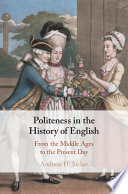 link to Politeness in the history of English : from the Middle Ages to the present day in the TCC library catalog