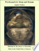 Psychoanalysis Sleep And Dreams Book PDF