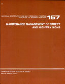 Maintenance Management of Street and Highway Signs