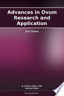 Advances in Ovum Research and Application: 2011 Edition