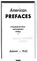 American Prefaces
