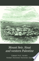 Mount Seir  Sinai and Western Palestine