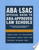 ABA/LSAC Official Guide to ABA-Approved Law Schools