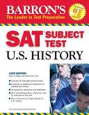 Barron s SAT Subject Test in U S  History Book