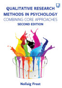 Qualitative Research Methods in Psychology  Combining Core Approaches 2e