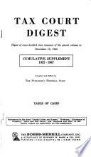 Tax Court Digest