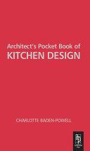 Architect's Pocket Book of Kitchen Design
