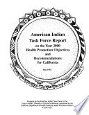 American Indian Task Force Report On The Year 2000