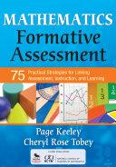 Mathematics Formative Assessment  Volume 1