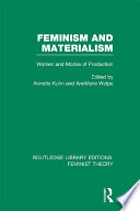 Feminism and Materialism  RLE Feminist Theory