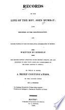 Records of the life of the Rev. John Murray, Life of Rev. John Murray