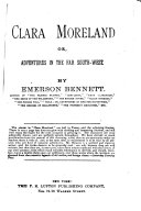 Clara Moreland  Or  Adventures in the Far South west