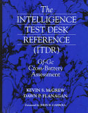 The intelligence test desk reference (ITDR): Gf-Gc cross-battery ...