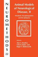 Animal Models of Neurological Disease  II