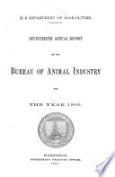 Annual Report of the Bureau of Animal Industry ...