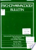 Psychopharmacology Bulletin
