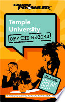Temple University College Prowler Off the Record