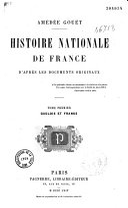 Histoire nationale de France d'après les documents originaux