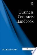 Business Contracts Handbook