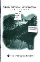 Sierra Nevada Conservation Directory