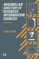 Macmillan Directory of Business Information Sources