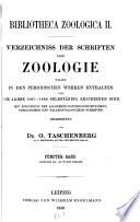 Bibliotheca zoologica II.