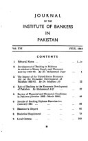 Journal of the Institute of Bankers in Pakistan