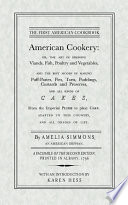 """American Cookery"" by Amelia Simmons"