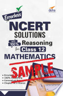 (Free Sample) Errorless NCERT Solutions with 100% Reasoning for Class 12 Mathematics