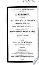 The Advantage of Being in the House of Mourning  a Sermon  Delivered in the New North Church     Nov  19  1817  the Day Appointed for the Funeral of     Princess Charlotte Augusta of Wales  and Her Infant Son