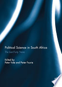 Political Science In South Africa
