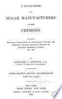 Spencer-Meade Cane Sugar Handbook