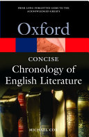 The Concise Oxford Chronology of English Literature